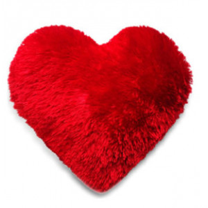 Heart Shaped Fur Cushion