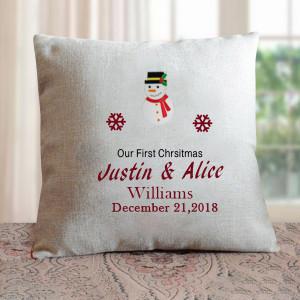 1st Christmas Personalised Cushion