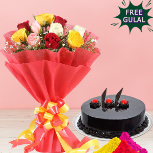 Cake With Roses Hamper