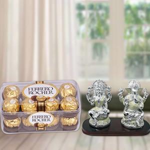 Ferrero Rocher With Laxmi Ganesh Idol