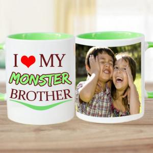 I Love My Brother Personalised Mug