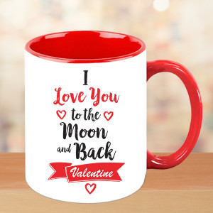 Love you to the Moon and back Valentine mug