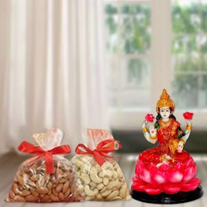 Nuts with Laxmi Idol