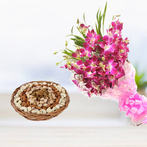 Orchid with Dry Fruits
