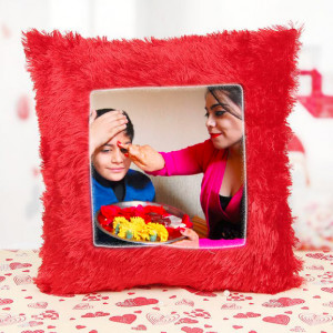 Personalised Bhai Dooj Cushion