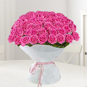 Pink Roses Bouquet Large
