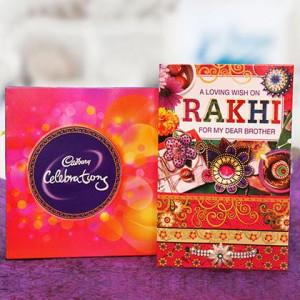 Rakhi, 121.3gm Celebration and a Greeting Card