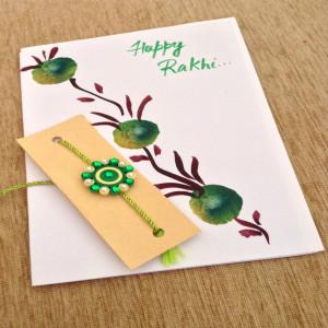 1 Rakhi with 1 Greeting Card