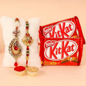 Rakhi with 2 Kitkat Chocolate