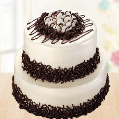2 Tier Vanila Chocochip Cake
