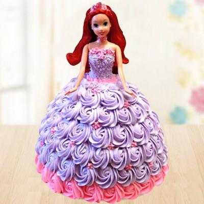 Barbie Doll Vanilla Cake
