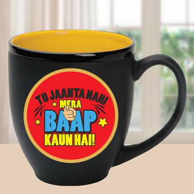 Black Mug with Freakish Quote