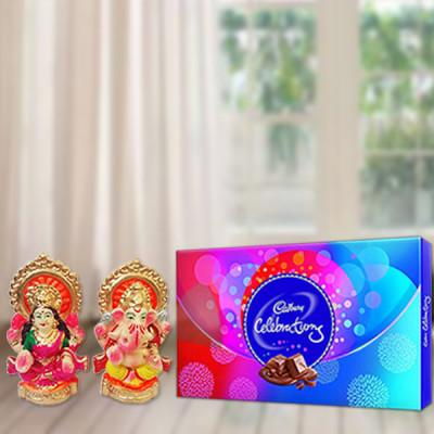 Celebration With Laxmi Ganesh Idol
