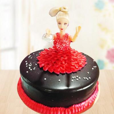Chocolaty Barbie Cake