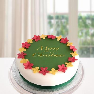 Colorful Christmas Cake