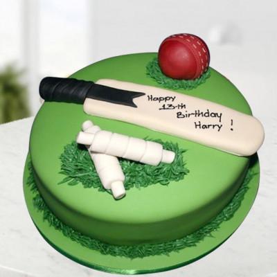 Cricket Bat Ball Cake