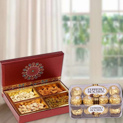 Dry Fruits With Ferrero Rocher