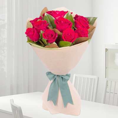 Graceful Red Roses Bouquet