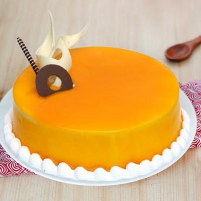 Half Kg Mango Cake