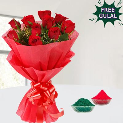 Red Roses Holi Hamper