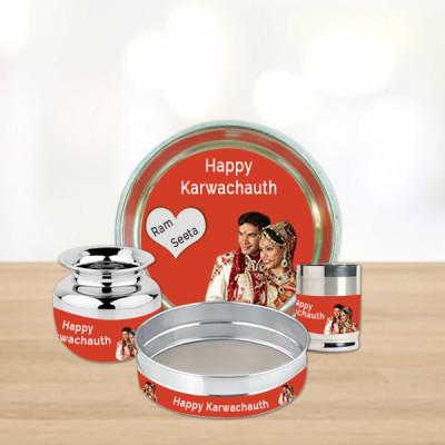 Personalised Karwa Thali Set
