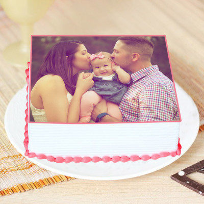 Joyful Moment Photo Cake