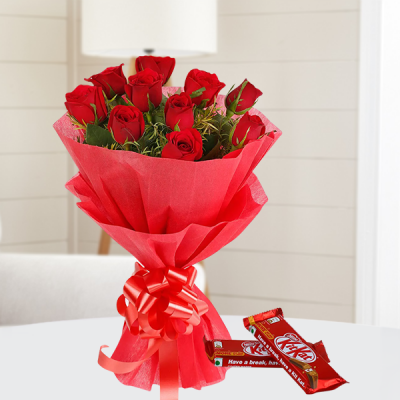 Love Sweets - Red Roses And Chocolates