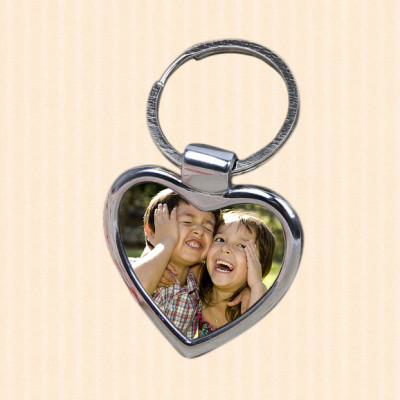 Lovely Heart Photo Key Ring