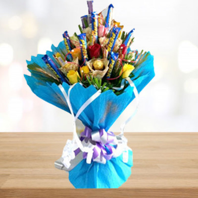 Mix Flower and Chocolate Bouquet
