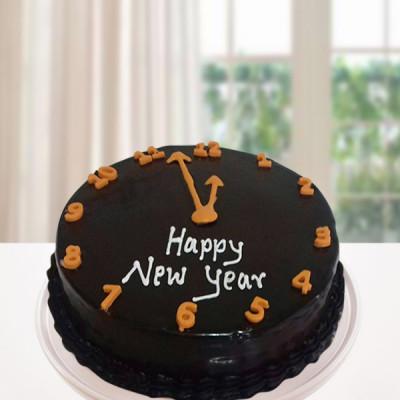 New Year Clock Cake