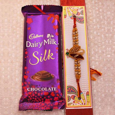 Rakhi with 1 Dairymilk Silk