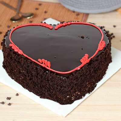 Special Truffle Heart Cake