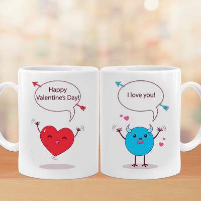 Valentine's Love Couple Mugs
