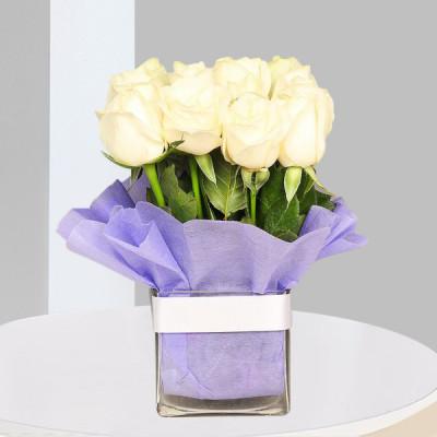 Vase of White Rose