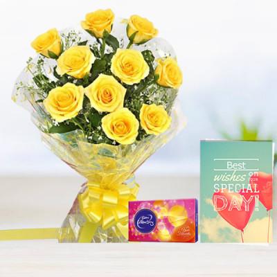 Yellow Rose N Greeting Card