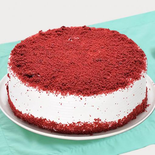 Round Shape Red Velvet Cake