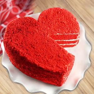 Red Velvet Cake Heart Shape