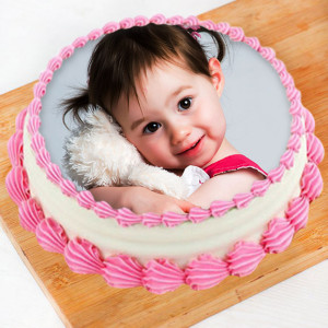 Strawberry Photo Cake
