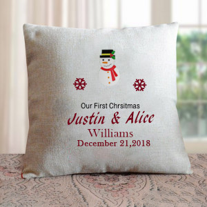 1st Christmas Personalised Cushion