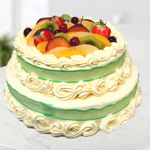 2 Tier Fruit Cake