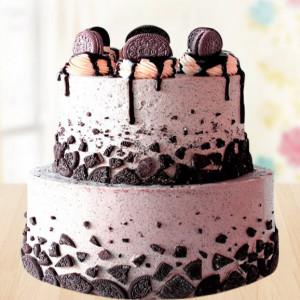 2 Tier Oreo Cake