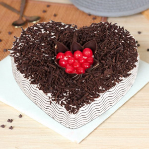 Black Forest Heart Shaped Cake