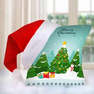 Christmas Cushion with Cap