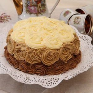 Coffee Rose Cake