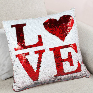 Color Changing Sequined Love Cushion