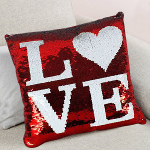 Color Changing Sequined Valentine Cushion