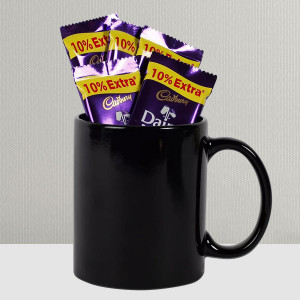 Dairy Milk Loaded Black Mug