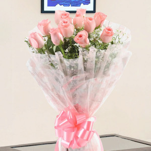 Delightful Pink Roses Bouquet