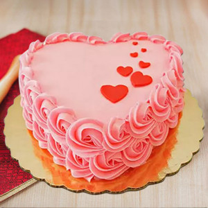 Floating Hearts Cake