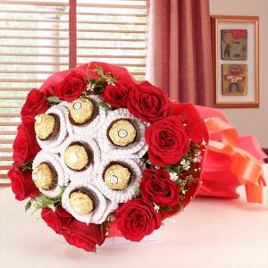 Ferrero Rocher Roses Bunch